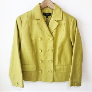 Talbots Grace Fit Double Breasted Blazer Pistachio